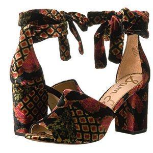 Sam Edelman Odele velvet peep toe heel sandal NIB